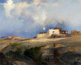Laguna Pueblo, 1919 by Thomas Moran | Painting Reproduction