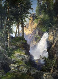 Falls at Toltec Gorge, 1913 by Thomas Moran | Painting Reproduction