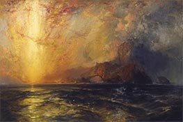 Fiercely the Red Sun Descending | Thomas Moran | Painting Reproduction