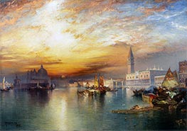 Grand Canal, Venice, 1898 by Thomas Moran | Painting Reproduction