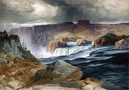 Shoshone Falls, Snake River, Idaho, undated by Thomas Moran | Painting Reproduction