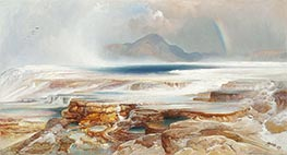 Hot Springs of the Yellowstone | Thomas Moran | Painting Reproduction