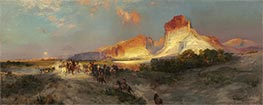 Green River Cliffs, Wyoming | Thomas Moran | Painting Reproduction