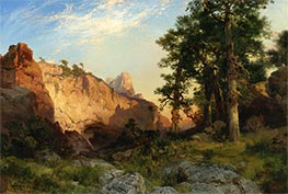 Coconino Pines and Cliff, Arizona | Thomas Moran | Painting Reproduction