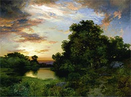 Sunset on Long Island | Thomas Moran | Painting Reproduction