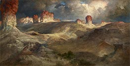 Pine Buttes, Wyoming, 1914 by Thomas Moran | Painting Reproduction