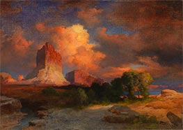 Sunset Cloud, Green River, Wyoming, 1917 by Thomas Moran | Painting Reproduction