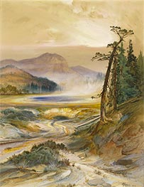 Excelsior Geyser, Yellowstone Park, 1873 by Thomas Moran | Painting Reproduction