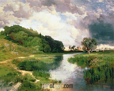 Approaching Storm, Amagansett, 1884 | Thomas Moran | Painting Reproduction