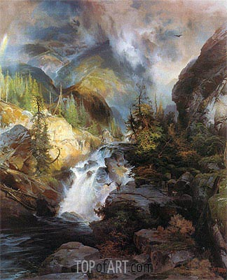 Children of the Mountain, 1866 | Thomas Moran | Gemälde Reproduktion