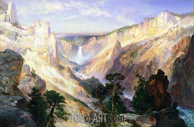 Grand Canyon of the Yellowstone, Wyoming, 1906 | Thomas Moran | Gemälde Reproduktion