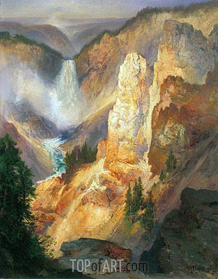 Grand Canyon of the Yellowstone, 1893 | Thomas Moran | Painting Reproduction