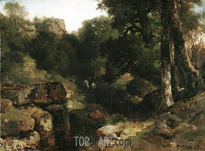 The Dell, 1878 | Thomas Moran | Painting Reproduction