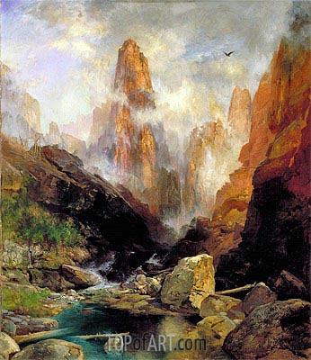 Mist in Kanab Canyon, Utah, 1892 | Thomas Moran | Gemälde Reproduktion