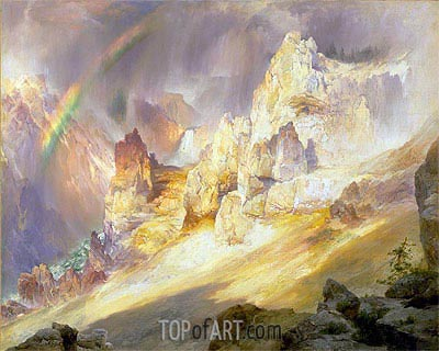Rainbow over the Grand Canyon of the Yellowstone, 1900 | Thomas Moran | Gemälde Reproduktion