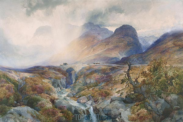 Pass at Glencoe, Scotland, 1882 | Thomas Moran | Painting Reproduction
