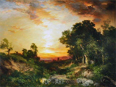 Sunset, Amagansett, 1905 | Thomas Moran | Painting Reproduction
