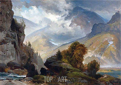 The White Mountains, 1874 | Thomas Moran | Painting Reproduction