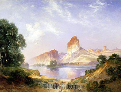 An Indian Paradise (Green River, Wyoming), 1911 | Thomas Moran | Gemälde Reproduktion