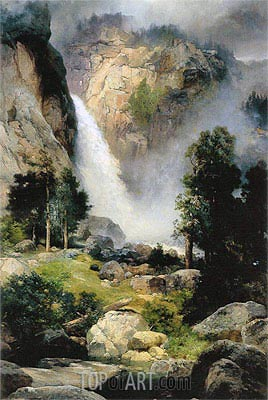 Cascade Falls, Yosemite, 1905 | Thomas Moran | Painting Reproduction