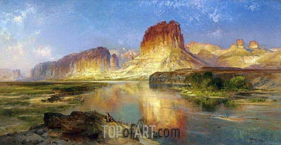 Green River of Wyoming, 1878 | Thomas Moran | Painting Reproduction