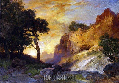 A Side Canyon, Grand Canyon, Arizona, 1905 | Thomas Moran | Gemälde Reproduktion