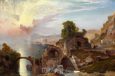 Bay of Baiae, Sunrise, 1867 | Thomas Moran | Gemälde Reproduktion