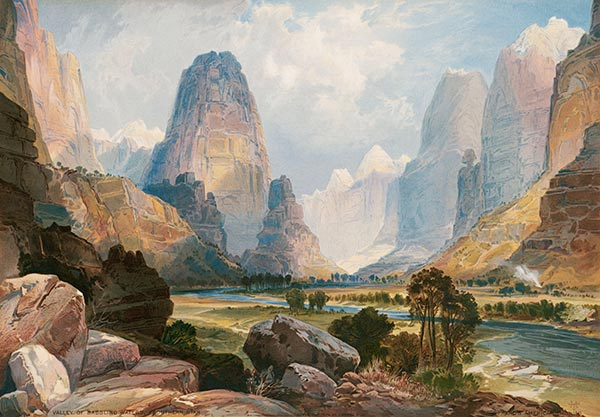 Valley of Babbling Waters, 1876 | Thomas Moran | Gemälde Reproduktion
