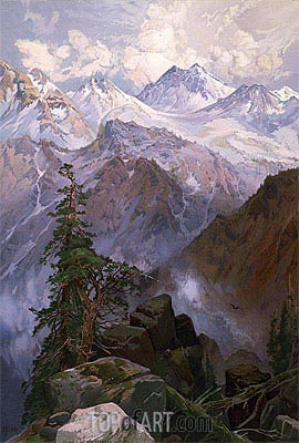 Summit of the Sierras, Nevada, 1875 | Thomas Moran | Painting Reproduction