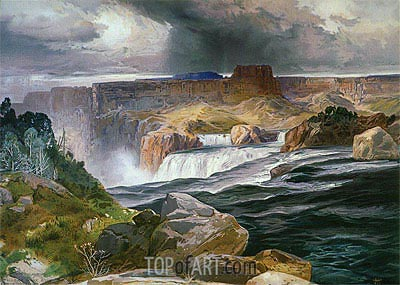 Great Falls of Snake River, 1876 | Thomas Moran | Gemälde Reproduktion