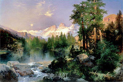 The Three Tetons, 1895 | Thomas Moran | Painting Reproduction