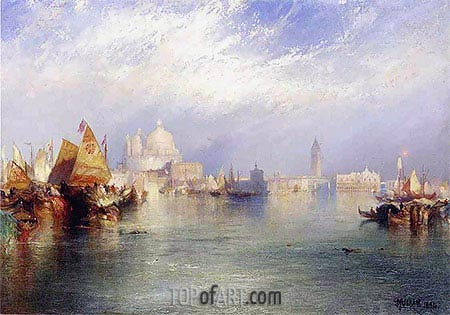 Harbor Scenes (The Splendor of Venice), 1894 | Thomas Moran | Gemälde Reproduktion