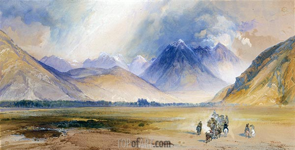 The Yellowstone Range, near the Crow Mission, 1872 | Thomas Moran | Painting Reproduction