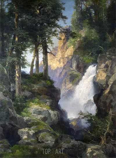Falls at Toltec Gorge, 1913 | Thomas Moran | Painting Reproduction