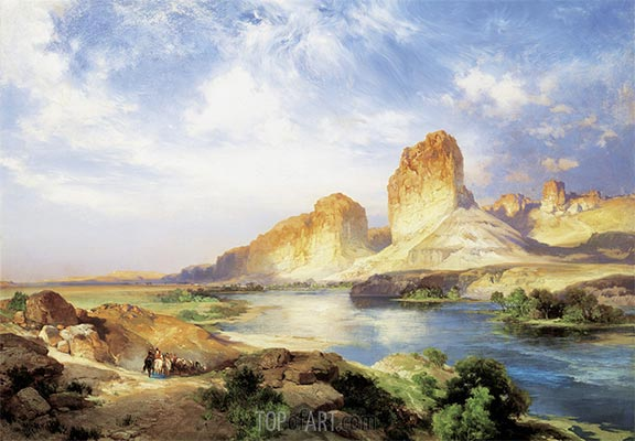 Green River, Wyoming, 1907 | Thomas Moran | Gemälde Reproduktion