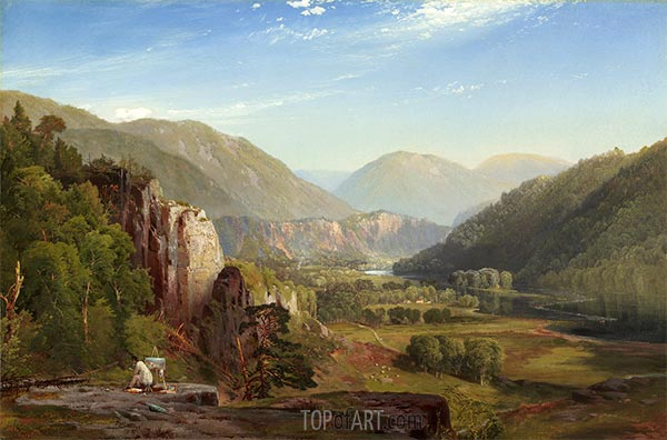 The Juniata, Evening, 1864 | Thomas Moran | Painting Reproduction