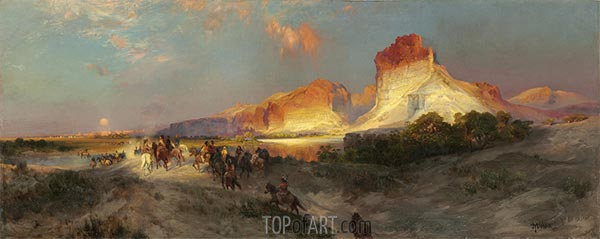 Green River Klippen, Wyoming, 1881 | Thomas Moran | Gemälde Reproduktion