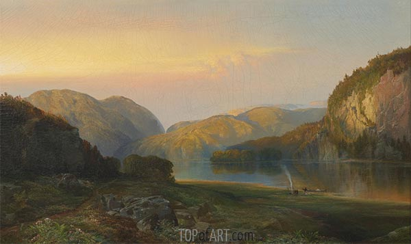 Evening on the Susquehanna, 1863 | Thomas Moran | Painting Reproduction