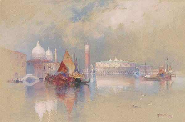 View of Venice, 1888 | Thomas Moran | Painting Reproduction