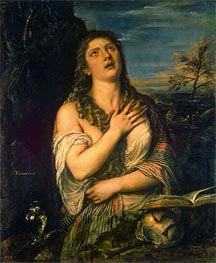 The Repentant Magdalene, c.1560 by Titian | Painting Reproduction