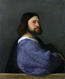 A Man with a Quilted Sleeve (Ariosto) | Titian | Painting Reproduction