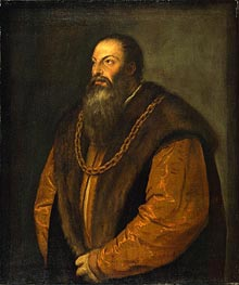 Portrait of Pietro Aretino | Titian | Painting Reproduction