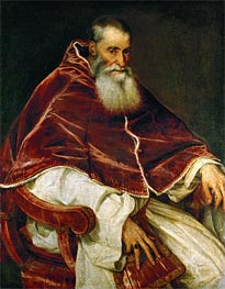 Pope Paul III (Portrait of Alessandro Farnese) | Titian | Painting Reproduction