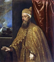 Portrait of Doge Francesco Venier | Titian | Gemälde Reproduktion