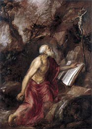 Saint Jerome in the Wilderness | Titian | Gemälde Reproduktion