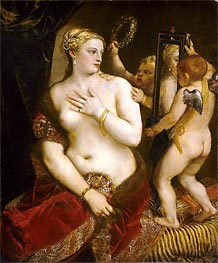 Venus with a Mirror | Titian | Painting Reproduction