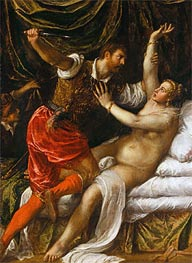 Tarquin and Lucretia | Titian | Painting Reproduction