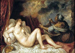 Danae receiving the Golden Rain | Titian | Painting Reproduction