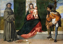 The Virgin and Child between Saint Anthony of Padua and Saint Roque | Titian | Painting Reproduction