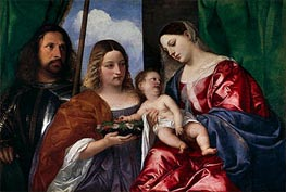 The Virgin and Child with Saints Dorothy and George | Titian | Painting Reproduction